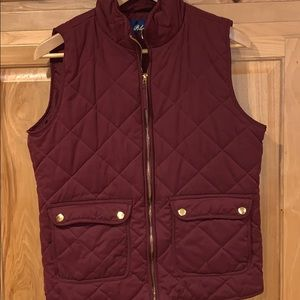 Burgundy and gold quilted vest